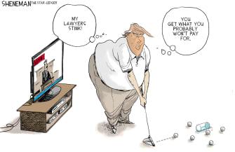 Political Cartoon U.S. trump impeachment lawyers