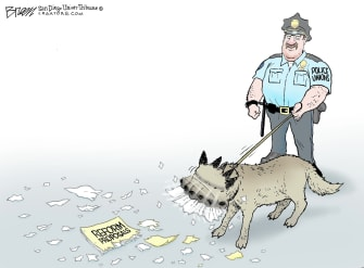 Editorial Cartoon U.S. Police unions reform