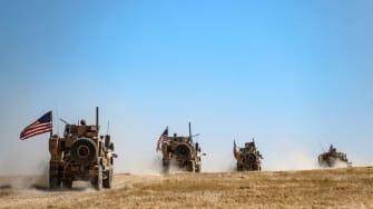 A U.S. military convoy.