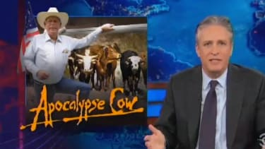 The Daily Show quizzically mocks Sean Hannity for siding with cattle scofflaw Cliven Bundy
