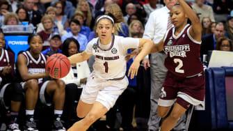 A scene from the NCAA women's basketball tournament final.