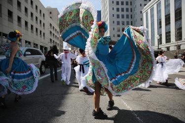 A Cinco de Mayo parade in Denver