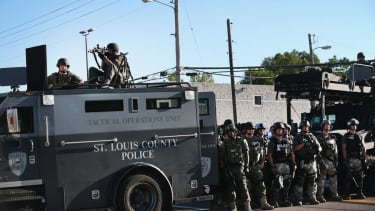 The Pentagon supplied Ferguson police with military apparatus being used against civilians
