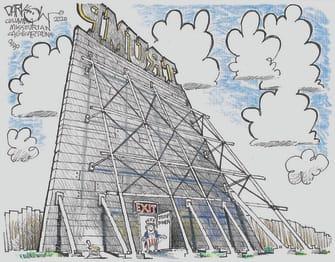 Political Cartoon U.S. Trump Tower taxes