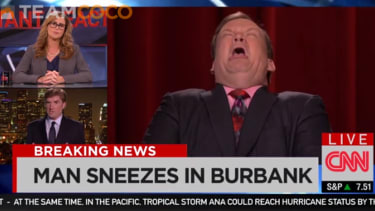 Watch Conan mock CNN's 'insane' Ebola coverage
