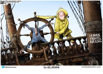Political Cartoon U.S. xi jinping china human rights