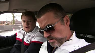 George Michael and James Corden in a 2011 sketch