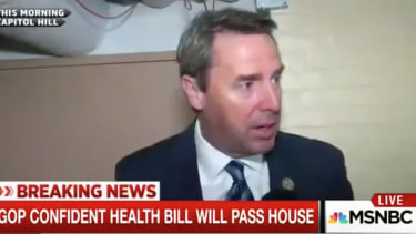 Republican Congressmembers avoid MSNBC reporter asking if they read the health care bill.