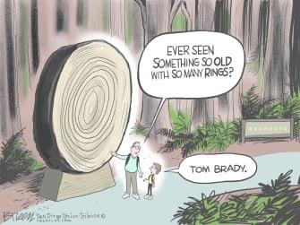 Editorial Cartoon U.S. tom brady super bowl LV
