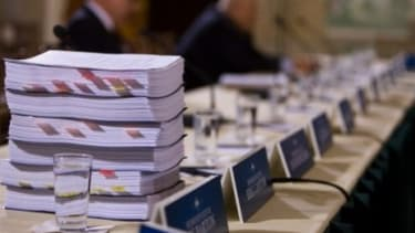 A new, revised bill promises to be much smaller than the original (shown here at the health care summit)