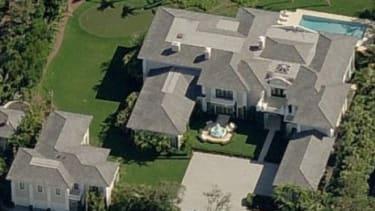 A birds-eye view of Limbaugh's house.