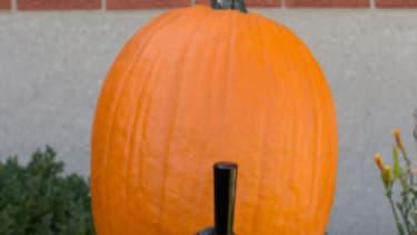 Tap a pumpkin