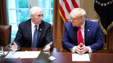 Trump and Pence coronavirus.