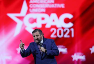 Ted Cruz speaking at CPAC.