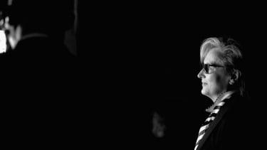 Meryl Streep backstage