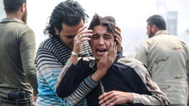 The horror in Aleppo.