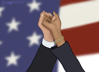 Political Cartoon U.S. Joe Biden Kamala Harris Win 2020 Election