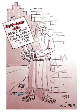 Editorial Cartoon U.S. The end is near coronavirus George Floyd protests
