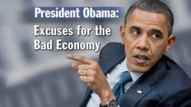 """""""Excuses,"""" created by conservative group Crossroads GPS, is the first attack ad against Obama to air in the nonprofit's latest $25 million campaign."""
