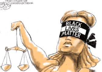 Editorial Cartoon U.S. chauvin george floyd guilty black lives matter