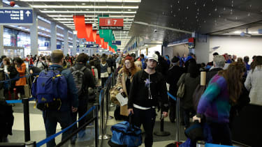 Travelers at O'Hare International Airport on December 23, 2016.
