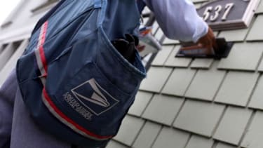 Post office carrier.