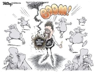 Political Cartoon U.S. matt gaetz sex trafficking charge gop