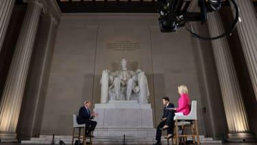 Trump at the Lincoln Memorial