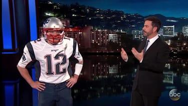 Matt Damon pretends to be Tom Brady