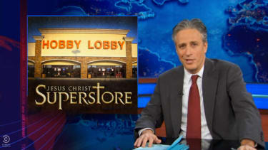 The Daily Show mocks Hobby Lobby, 'decent, God-fearing corporation'