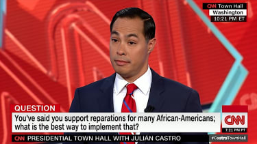 Julian Castro at a CNN town hall
