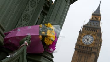 Memorial flowers for the Westminster attack