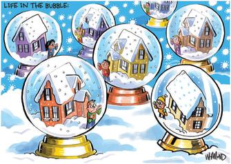 Editorial Cartoon U.S. COVID social distancing