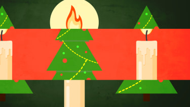 Candles and Christmas trees.