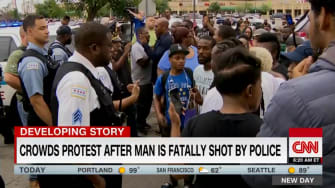 Police shooting protest in Chicago, July 14, 2018