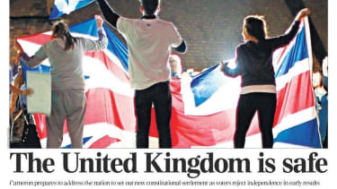 Here's how British newspapers are celebrating Scotland's vote to stay in the UK