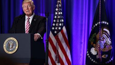 President Trump speaks to Congressional Republicans