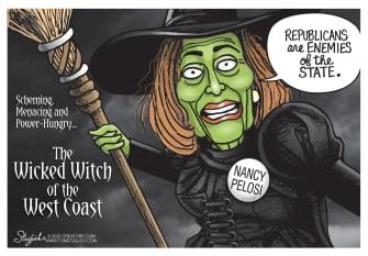 Political Cartoon U.S. Nancy Pelosi enemies of the state
