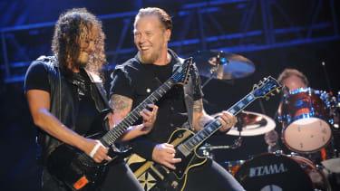 Metallica performing in 2008.