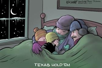 Editorial Cartoon U.S. texas weather