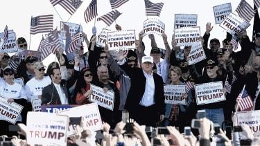 The populist candidate, Donald Trump.