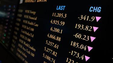 Dow Jones Industrial Average plunges.