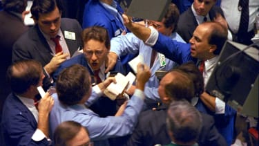 Traders during the 1987 stock market crash.