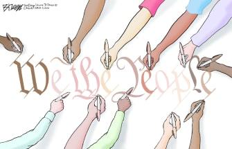Editorial Cartoon U.S. We the People racial unity
