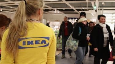 An employee at an Ikea in Berlin.