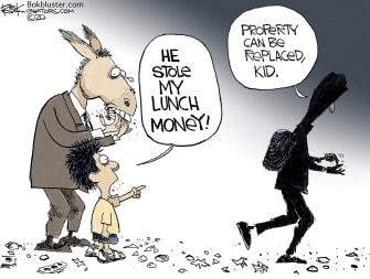 Editorial Cartoon U.S. democrats rioters
