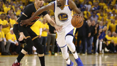 The Golden State Warriors vs the Cavaliers