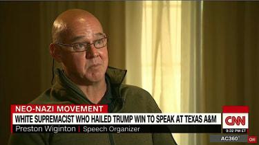 Preston Wiginton defends white supremacy on CNN.