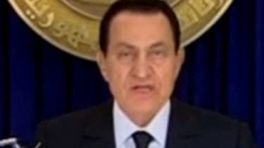 Despite the continuing protests and reports he would resign, Egyptian President Hosni Mubarak is not stepping down.