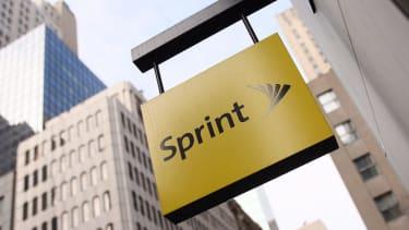The Sprint logo in New York